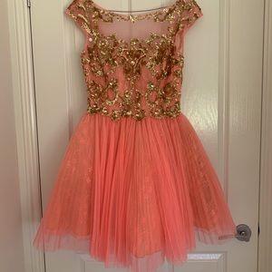 Sherry Hill Ballerina Style Prom Dress